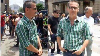 Militante cipoleña increpó a un periodista de Canal 13