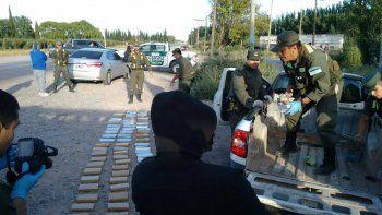 Gendarmería secuestró 100 kilos de marihuana