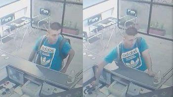 un vendedor robo un celular de un gimnasio y quedo escrachado por las camaras