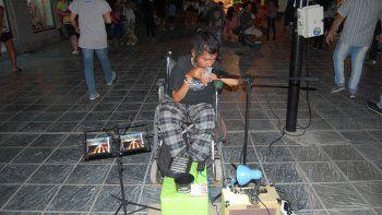 Al artista le habían robado armónicas valuadas en 30 mil pesos.