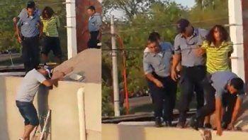 Persecución por los techos: la policía atrapó a un joven ladrón con pedido de captura