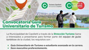 El polémico aviso fue publicado por la Dirección de Turismo.