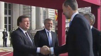 Weretilneck comenzó con la visita oficial de Estado en España