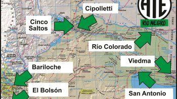 Mañana ATE bloquea las rutas a partir de las 9 en siete puntos distintos de la provincia