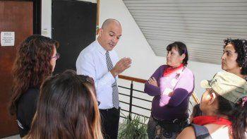 Las mujeres hablaron con el juez Márquez Gauna, entre otros funcionarios.