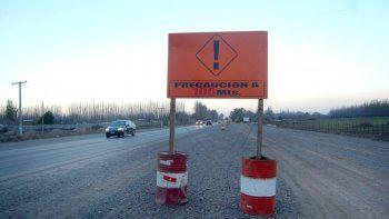 La polémica ampliación de la ruta fue frenada en Roca por la Justicia.