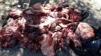 La Policía sigue con la mano dura en relación con el contrabando de carne.