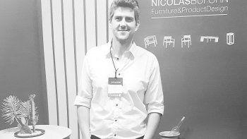 Nicolás Buforn fue premiado en la Feria Puro Diseño, en Buenos Aires.