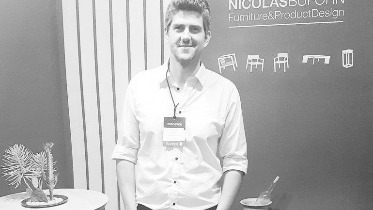 Nicolás Buforn fue premiado en la Feria Puro Diseño