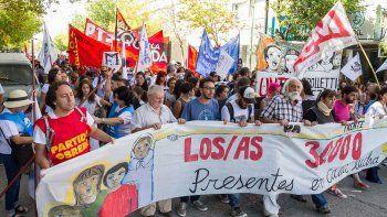 los cipolenos marcharon por la ciudad al cumplirse 41 anos del ultimo golpe militar