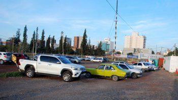 Los vehículos secuestrados en el procedimiento de ayer fueron trasladados al predio de Rivadavia y Pacheco.