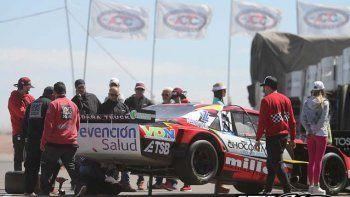 Urcera sufrió por la falla del motor y clasificó muy atrás.