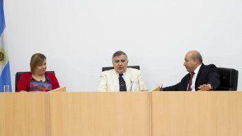 El camarista Baquero Lascano (derecha) presidió la audiencia de ayer.