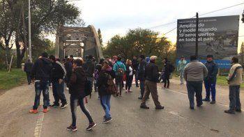 manifestantes liberaron los puentes: si no les dan respuestas volveran a bloquear manana
