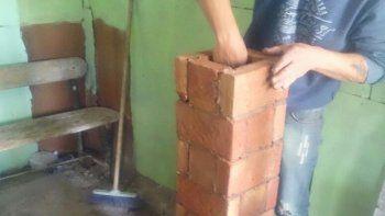 Durante el fin de semana, en el barrio Espejo se realizó un curso de construcción de estufas con sistema de calefacción tipo rocket.