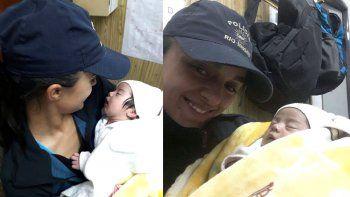 Una policía amamantó a una beba que fue abandonada en Roca