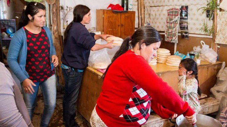 Cinco familias se quedaron sin una ración de ñoquis