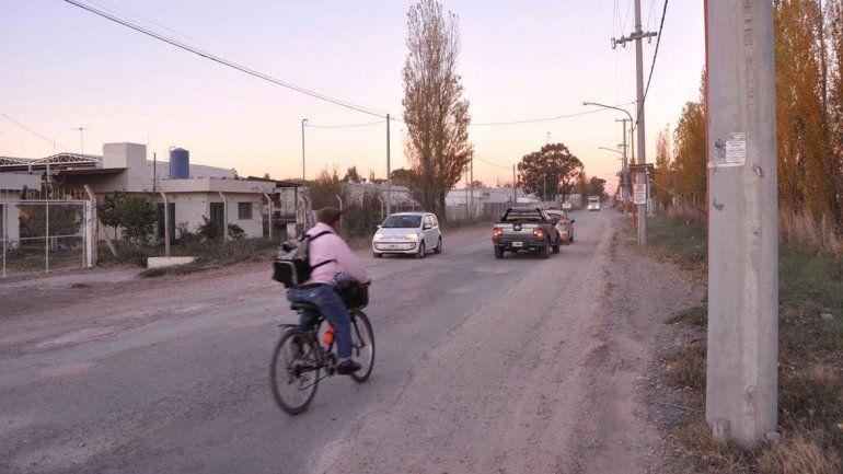 Por la Saturnino Franco pasa la mayor parte del tránsito del DVN.