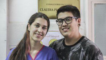 Camila y Blas se sumaron sobre la marcha al proyecto de la UNCo, por sus ganas de garantizar el derecho a la salud de las personas trans.