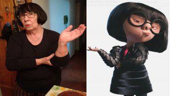 Leticia lrretchart (653) dice que la encuentran parecida a Edna de Los Increíbles.