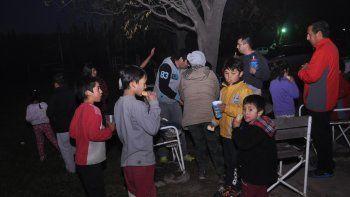 Las actividades recreativas organizadas por los policías se llevan a cabo en las canchas de González.