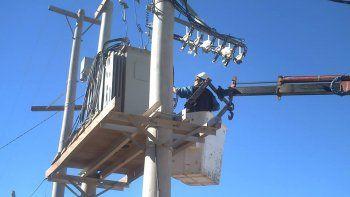 Edersa ya restableció el servicio de la luz en gran parte de la ciudad