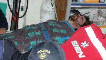 El hombre tuvo que ser trasladado a un hospital de Neuquén.