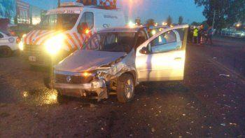 El accidente ocurrió en el cruce de la Ruta 22 y la calle Estado de Israel.