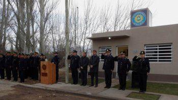 Inauguraron el destacamento policial de El Manzanar
