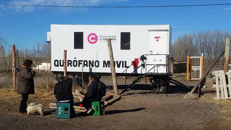 El quirófano móvil de la comuna trabajó en la zona de Isla Jordán.