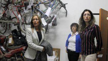 La jueza Liliana Piccinini recorrió el edificio del fuero penal cipoleño.