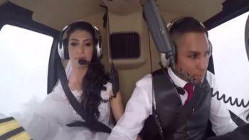 Iba camino a su boda a bordo de un helicóptero y murió