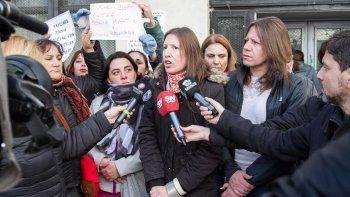 Protestaron durante la audiencia contra López por abuso sexual
