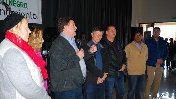 Weretilneck encabezó el acto de campaña de JSRN en Cipolletti.