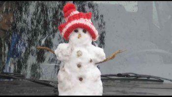 todo sobre la nieve pronosticada para el alto valle