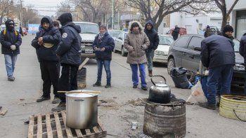 El gremio Sitramuci volvió a las calles y realizó una olla popular