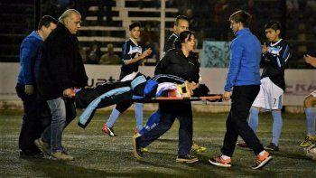 El joven sufrió una herida en un partido en La Visera.