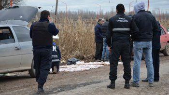Los narcos fueron interceptados por personal de Tránsito.