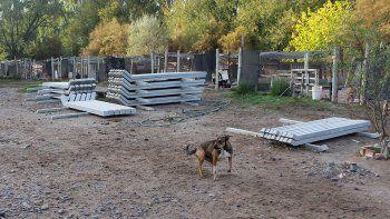 Las obras en la guardería canina están en marcha y permitirán optimizar el cuidado de los animales alojados.