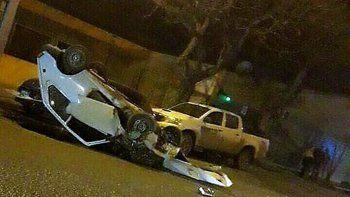 La escena en Mariano Moreno fue impactante y no se entiende cómo nadie murió.