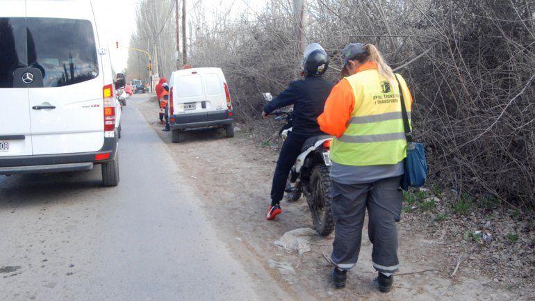 Andaba en una moto robada y lo pescó la Caminera