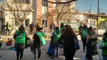 ATE instaló un piquete por salarios en el municipio de Fernández Oro