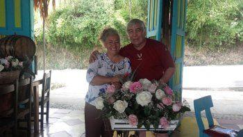 Abel y Margarita ya están juntos en Colombia disfrutando del amor.