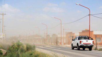 Alertan por viento de hasta 104 km/h en el Alto Valle