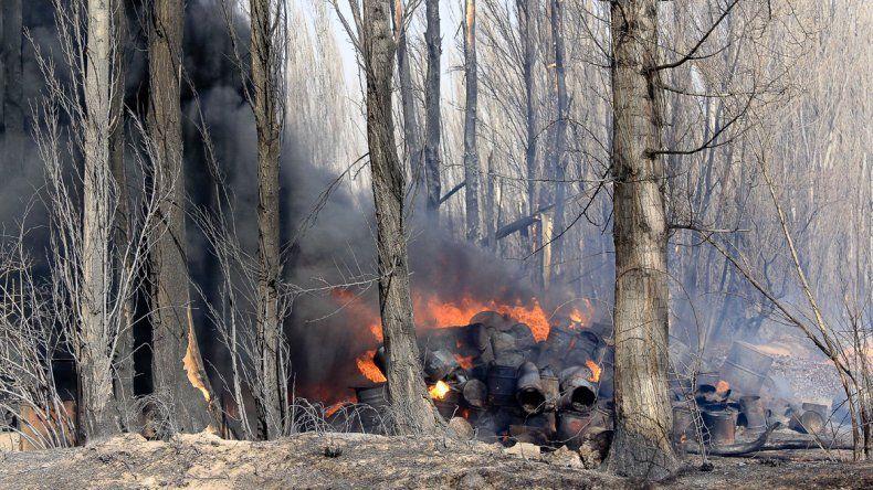 Las fuertes ráfagas provocaron unos 12 incendios simultáneos en la zona rural