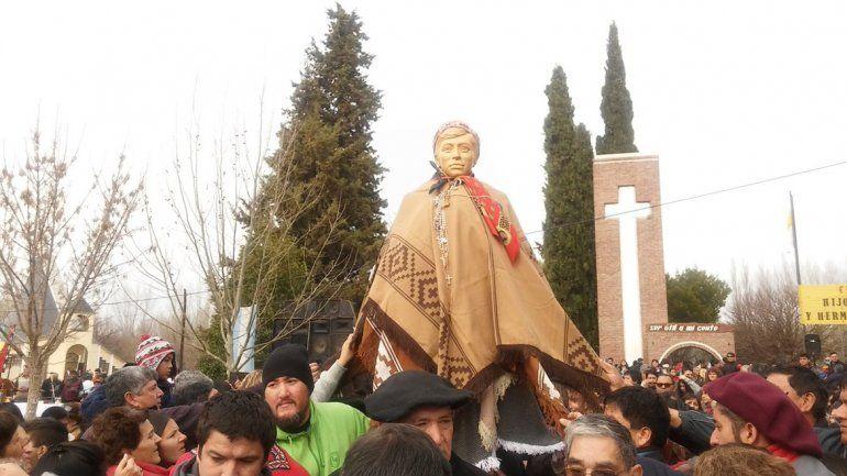Miles de fieles llegaron a Chimpay para homenajear a Ceferino