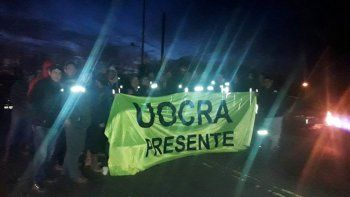 Una facción de la UOCRA neuquina sitió la provincia