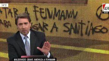 Roquenses amenazaron a Eduardo Feinmann y estalló en su programa