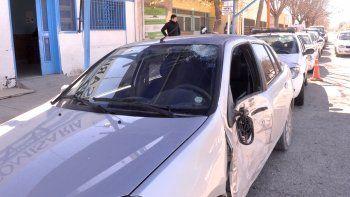El Renault Symbol que protagonizó el choque quedó secuestrado en la Comisaría 32, del barrio La Paz.