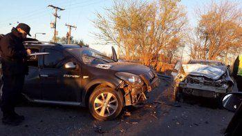 Los accidentes de ayer dejaron autos con múltiples daños.